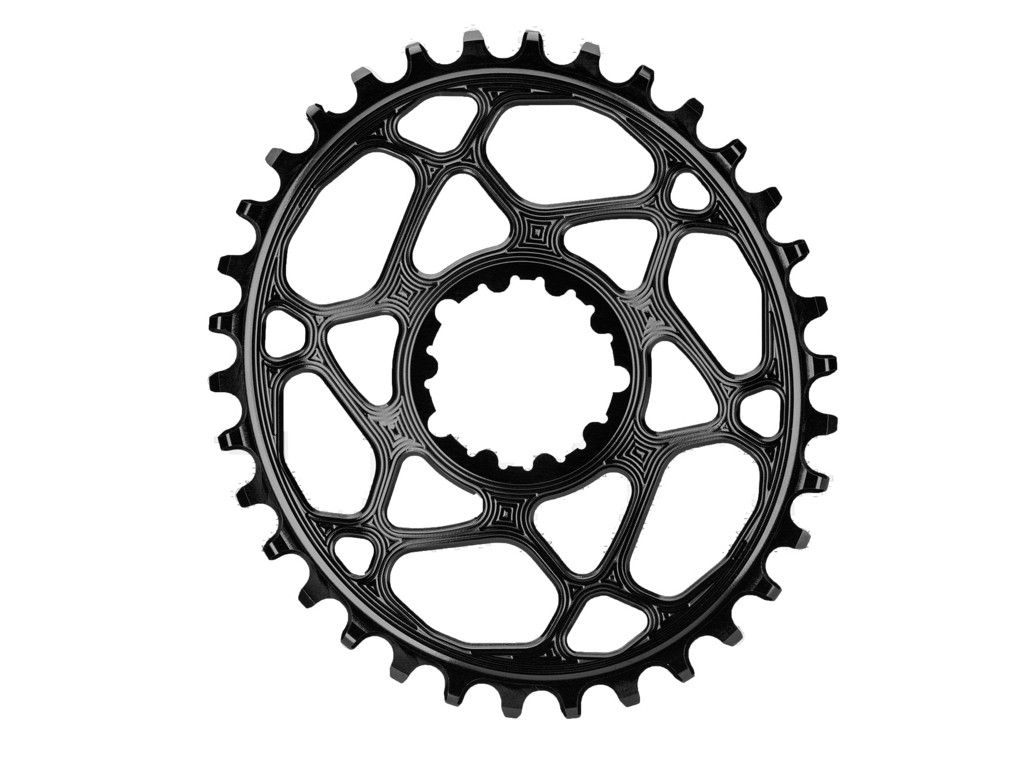 Image of absoluteBLACK Oval klinge - Sram - Direct mount - Boost - Offset 3 mm - 36 tænder - Sort