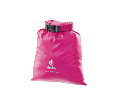 Deuter Light Drypack 3 - Vanntett 3 liters tørkepose - Rosa
