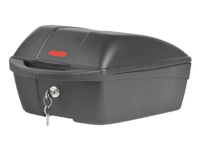 Polisport bagageboks til bagagebærer montering - med lås og 2 nøgler