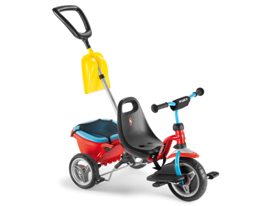 Puky Cat 1 SP - Tricykel - Trehjulet med lad og skubbestang - Rød/blå