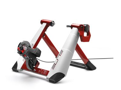 Elite Novo Force Deluxe - Cykeltrainer med tillbehörskit - Vit/Röd