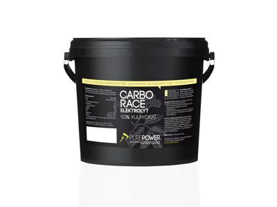 PurePower Carbo Race - Elektrolyt energidrik - Hyldeblomst - 3 kg