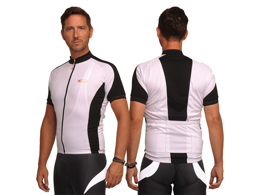 XTreme X-Fabian - Cykeltrøje med korte ærmer - Hvid/sort | Jerseys