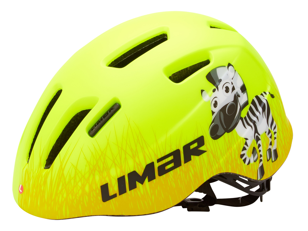 Limar 224 - Cykelhjelm til børn - Str. 46-52 cm - Gul zebra