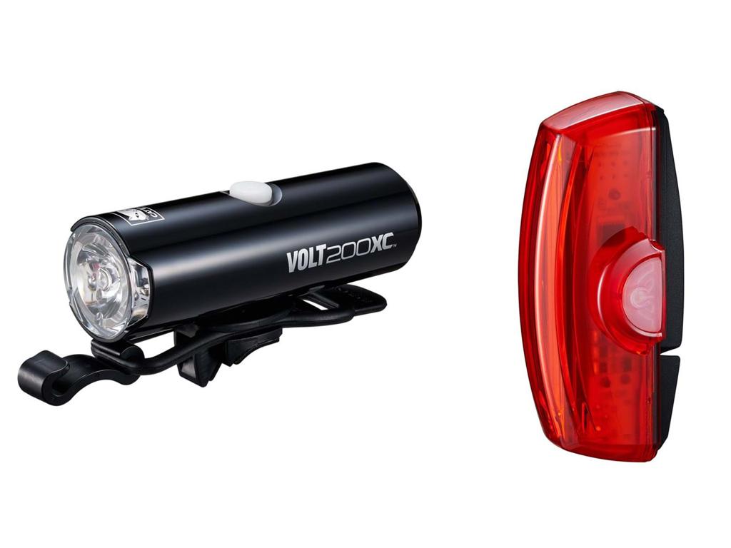 Cateye Volt200XC + Rapid X2 - Lygtesæt - USB opladelig