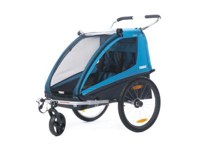 Thule Coaster XT - Cykelkärra till 2 barn - Svart/Turkos