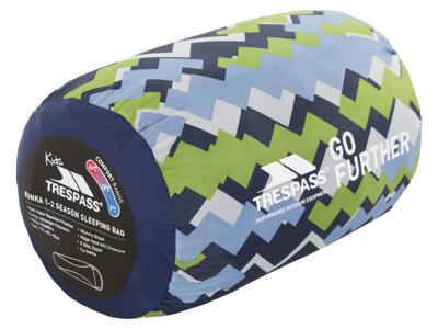 Trespass Bunka - Junior sovepose - Letvægt - 175 x 65 x 45 cm - Blå