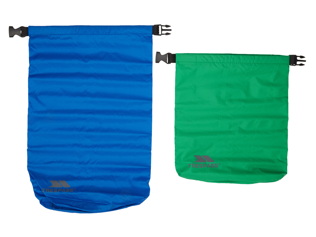 Trespass Exhilaration - Drybag sæt - 5 liter grøn - 10 liter blå