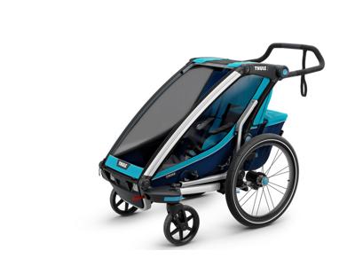 Thule Chariot Cross 1 - Multisportkärra till 1 barn - Svart/Blå