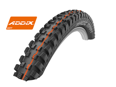 Schwalbe Magic Mary Addix Soft Downhill Evo Line SnakeSkin TL Easy Foldedæk - 27,5x2,35