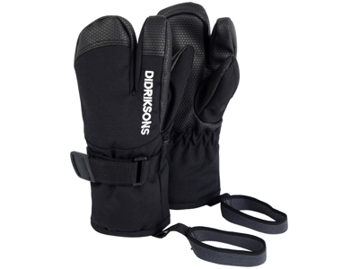Didriksons Fossa Kids Three-Finger Gloves - Handske Barn - Svart
