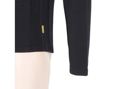 Sensor Merino Fleece Sweatshirt - Herre - Lynlås i halv længde - Sort