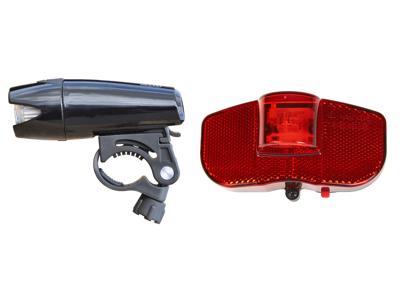 Smart Superflash 60 LUX + baglygte til bagagebærer - Lygtesæt - Inkl. batterier