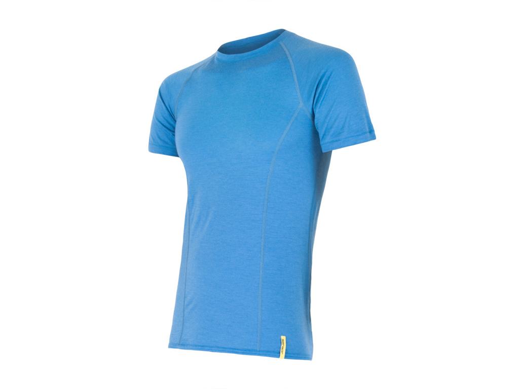 Image of   Sensor Merino Active - Uld T-shirt med korte ærmer - Herre - Blå - Str. L