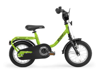 """Puky Z 2 - Barncykel 12"""" i stål - Grön/Svart"""
