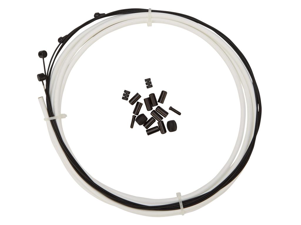 Image of   Atredo - Premium Kevlar/Teflon Bremsekabel - 5mm - Hvid - Sæt til for og bag