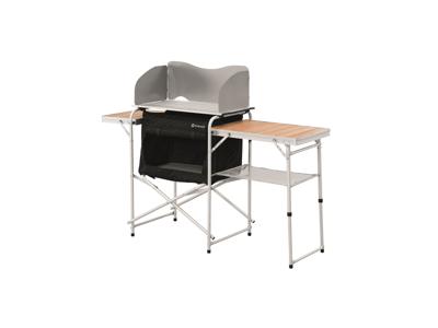 Outwell Vancouver - Köksbänk - Aluminiumram och bambus-sidbord