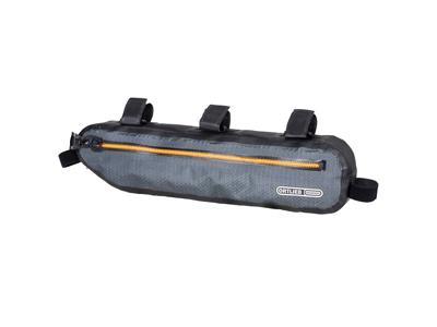 Ortlieb Frame-Pack Toptube - Bike Packing Steltaske til overrør - 4 Liter - Grå/sort
