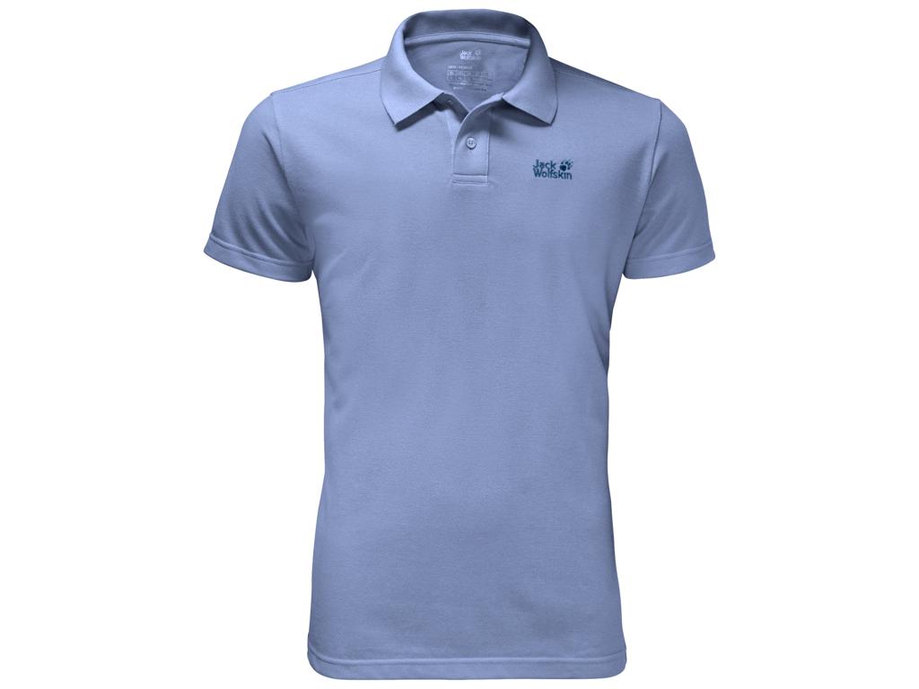 Jack Wolfskin Pique Polo - Hr. Str. M - Shirt blue thumbnail