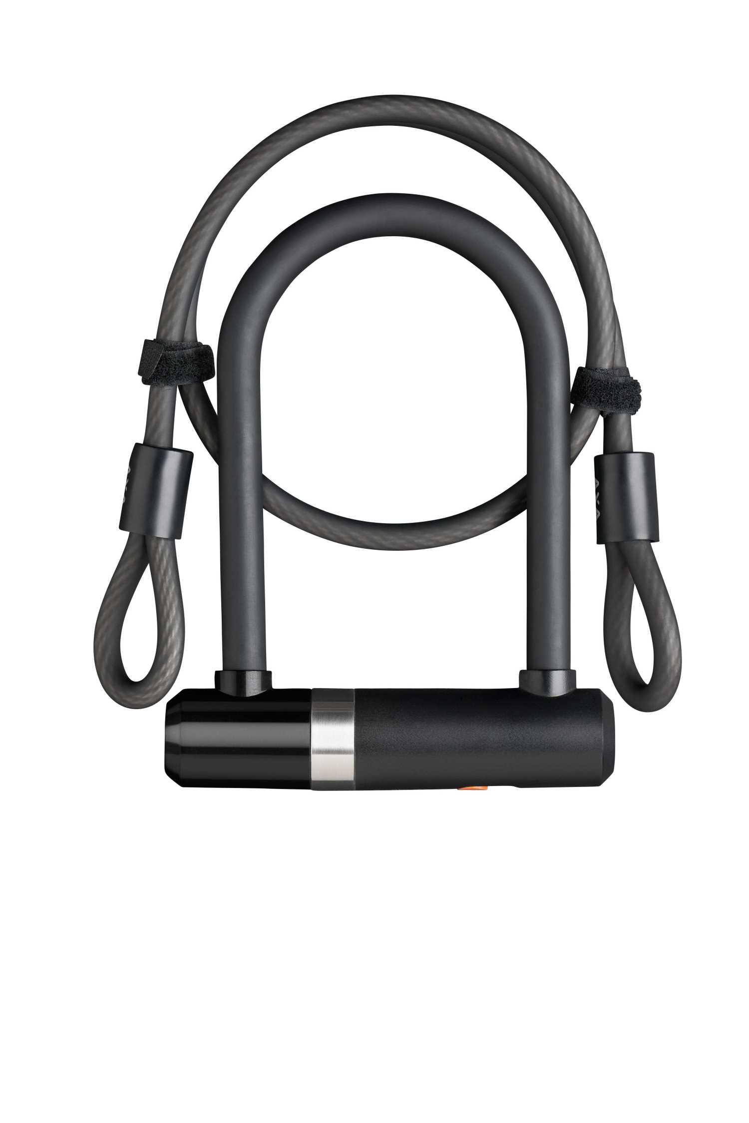 AXA Newton Pro Mini - Bøjlelås med 2 nøgler og LoopWire - Sort | Combo Lock