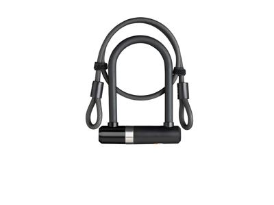 AXA Newton Pro Mini - Bøjlelås med 2 nøgler og LoopWire - Sort