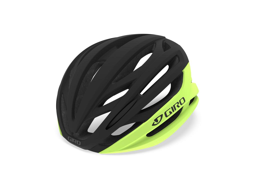 Giro Syntax Mips -  Cykelhjelm - Str. 55-59 cm - Neongul/Sort thumbnail
