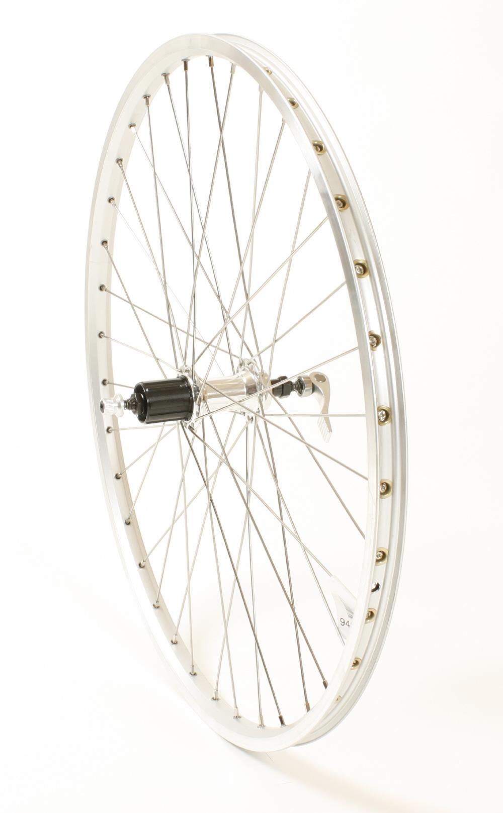 Connect MTB baghjul - 26 x 1.75 - 8/10 gear - Ryde ZAC 19 fælg - Sølv   Rear wheel
