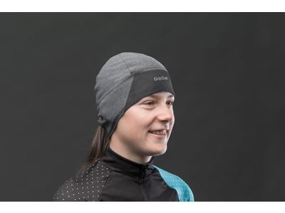 GripGrab windproof skull cap - Vindtæt dame hjelmhue - Grå