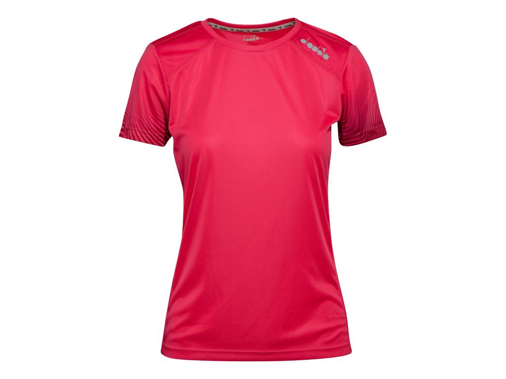 Image of   Diadora L. X-Run SS T-Shirt - Løbe t-shirt - Dame - Rød - Str. L