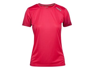 Diadora L. X-Run SS T-shirt - Running T-shirt - Dam - Röd