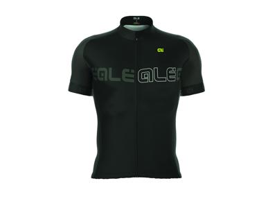 Alé Solid Block - Cykeltrøje m. korte ærmer - Sort/Charcoal