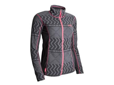 Kari Traa - Fleecetrøje grå med mønster