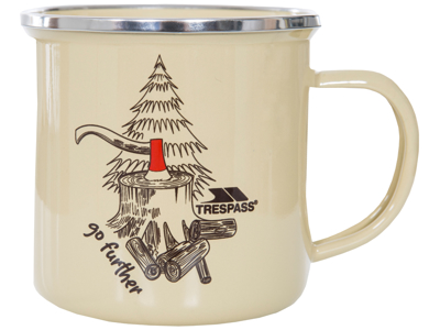 Trespass Elma - Emalj-mugg - Timber print