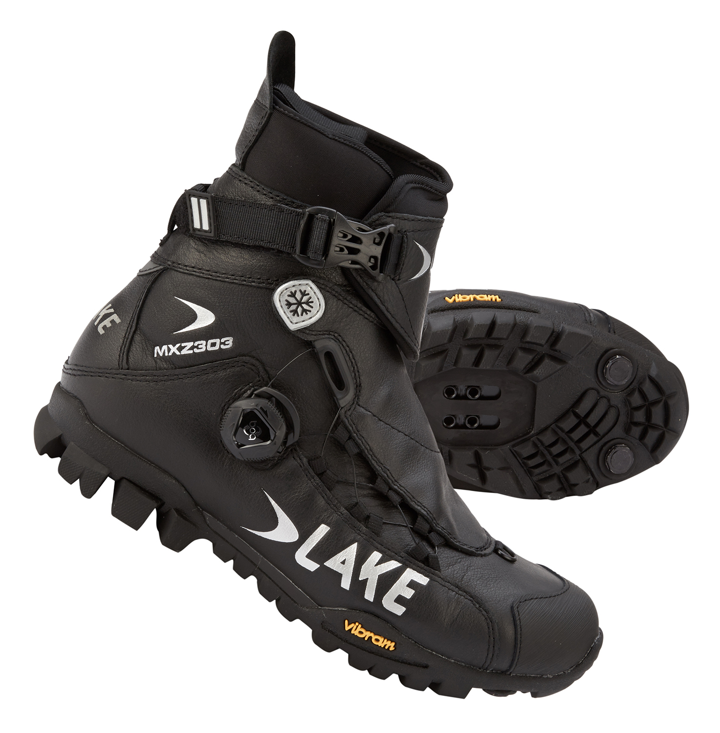 Lake MXZ303 - MTB vinterstøvle - Sort | Shoes and overlays