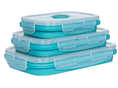 Trespass Lunchset - Silicone madkasse sæt - Lagoon