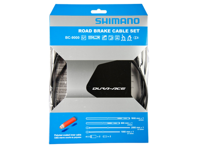 Shimano Dura Ace Bremsekabelsæt - Road Polymer - For-og bagbremsekabel komplet - Sort