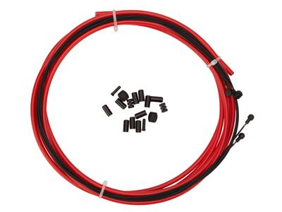 Atredo - Premium Kevlar/Teflon Bremsekabel - 5 mm - Rød - Sæt til for og bag