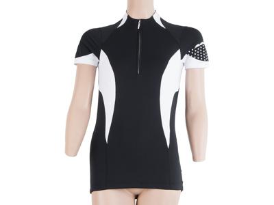 Sensor Cyklo Race - Cykletrøje med korte ærmer - Dame - Sort/hvid