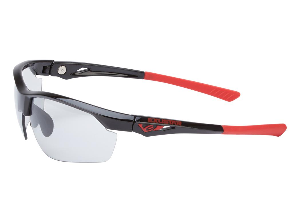 Exustar Cykelbriller Fotokromiske linser - Sort og rød brillestel