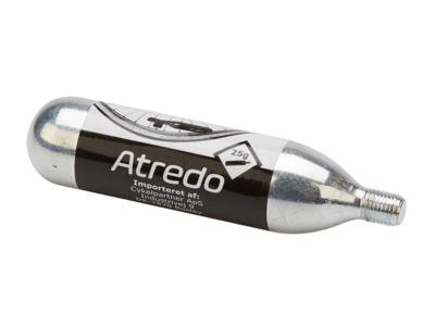 Atredo  - CO2 Patron - 25 gram - Med gevind - Til co2 cykelpumpe - Blank