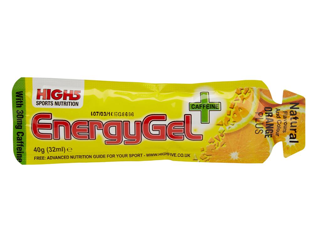 High5 EnergyGel+ - Apelsin 40 gram - 30mg Koffein