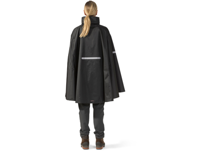 Didriksons Wheely Unisex Cape - Poncho/Regnslag - Sort