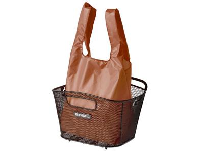 Basil - Keep shopper - Indkøbspose til kurv - Brun