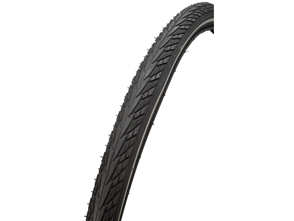 Image of   Atredo dæk - 2.5 mm punkteringsbeskyttelse - Str.700x35C(37-622) - Sort/refleks