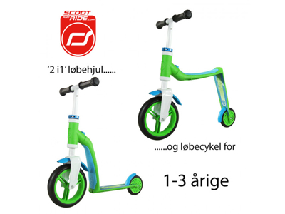 Scoot & Ride 2 in 1 scooter and running bike - Highway baby - Green / Blue