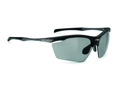 Rudy Project Agon - Løbe- og cykelbrille - Smoke linser - Mat Sort