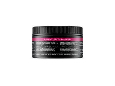 PurePower BCAA - Hindbær-smag - 150 gram