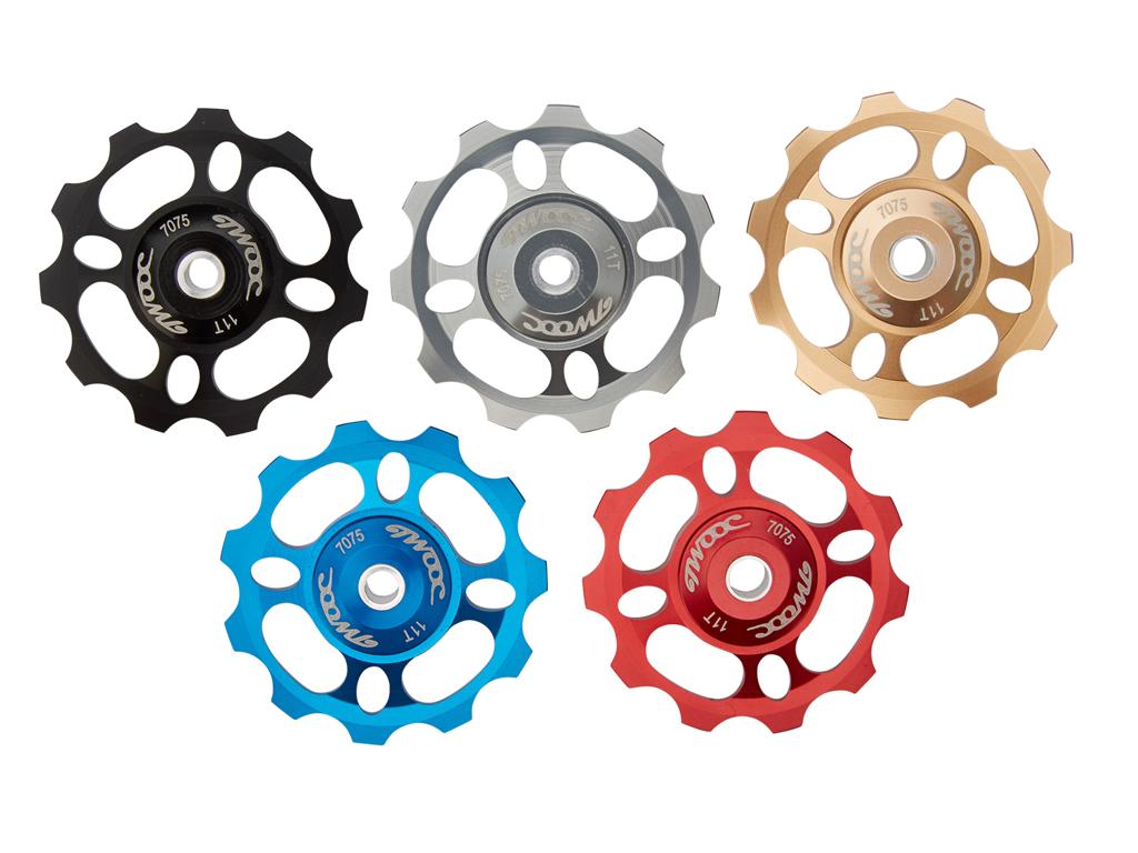 Billede af Twooc - Pulleyhjul - 11 tands med keramiske lejer - Alu - 1 stk - Rød