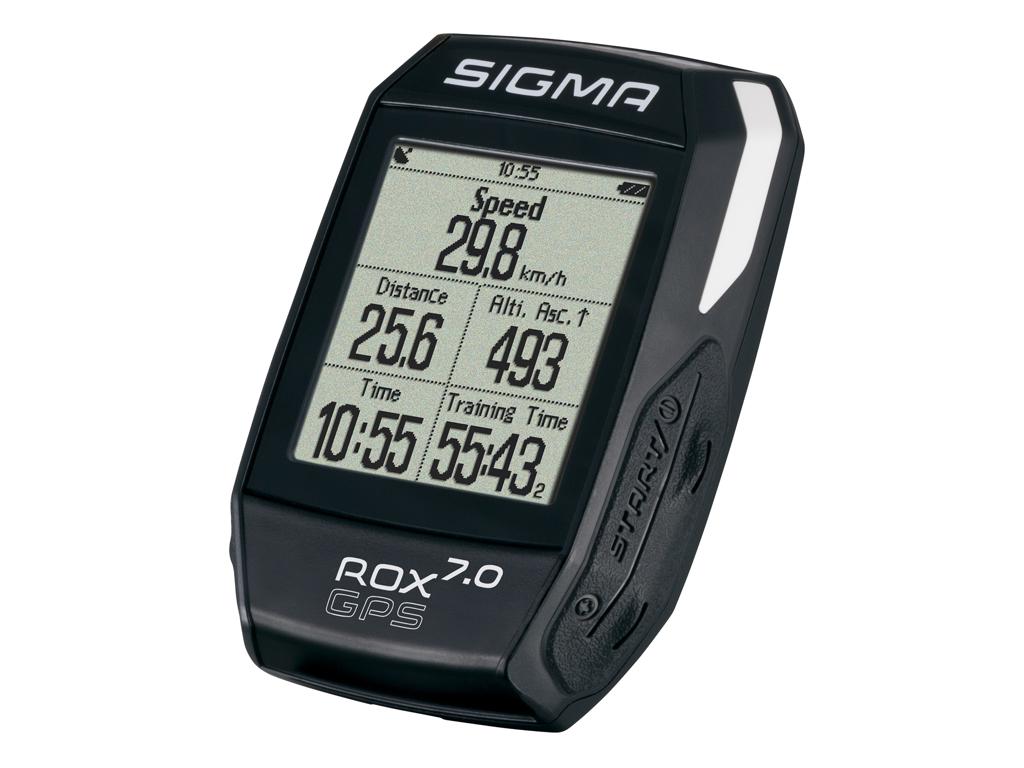 Sigma ROX 7.0 - Cykelcomputer med GPS - Sort - Strava kompatibel thumbnail