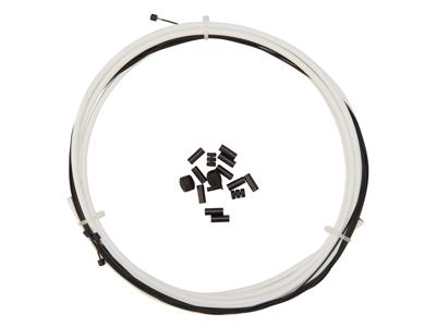Atredo - Premium Kevlar/Teflon Gearkabel - 4 mm - Hvid - Sæt til for og bag